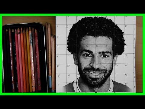 كيفية رسم محمد صلاح خطوة بخطوة الجزء الاول تعليم الرسم للمبتدئين
