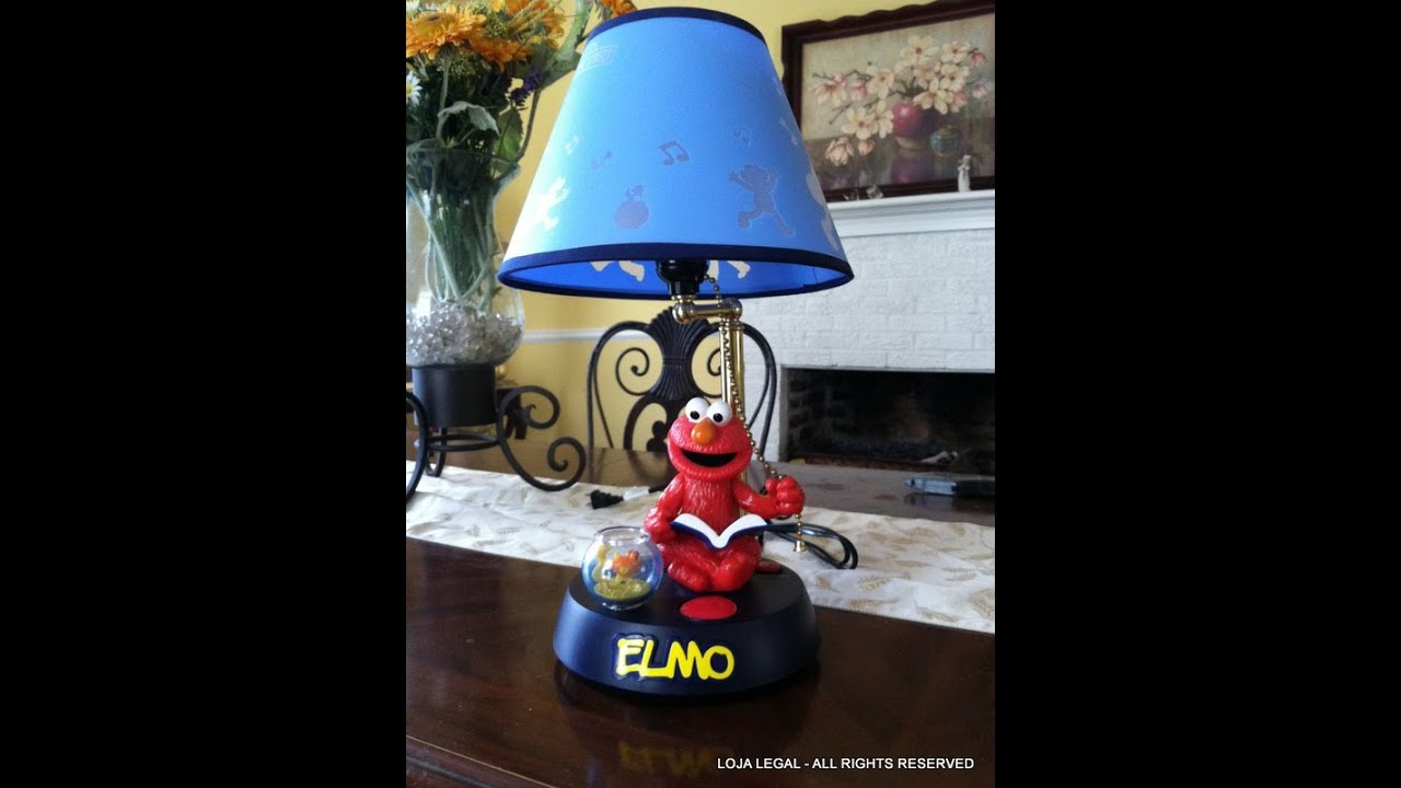 Sesame Street ELMO Animated & Talking Lamp (Electric Light) 2002 ...