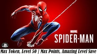 [PS4] Marvel Spider-Man | Max Token, Level 50 | Max Points Save