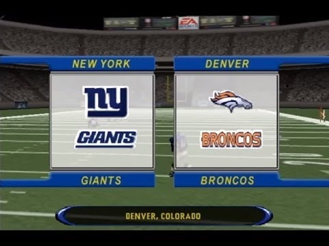 Madden NFL 2002 NYG Franchise Mode EP 1 Vs Broncos #ThrowBackThurday