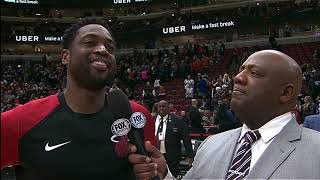Dwyane Wade On His Final Game in Chicago - Postgame Interview | January 19, 2019