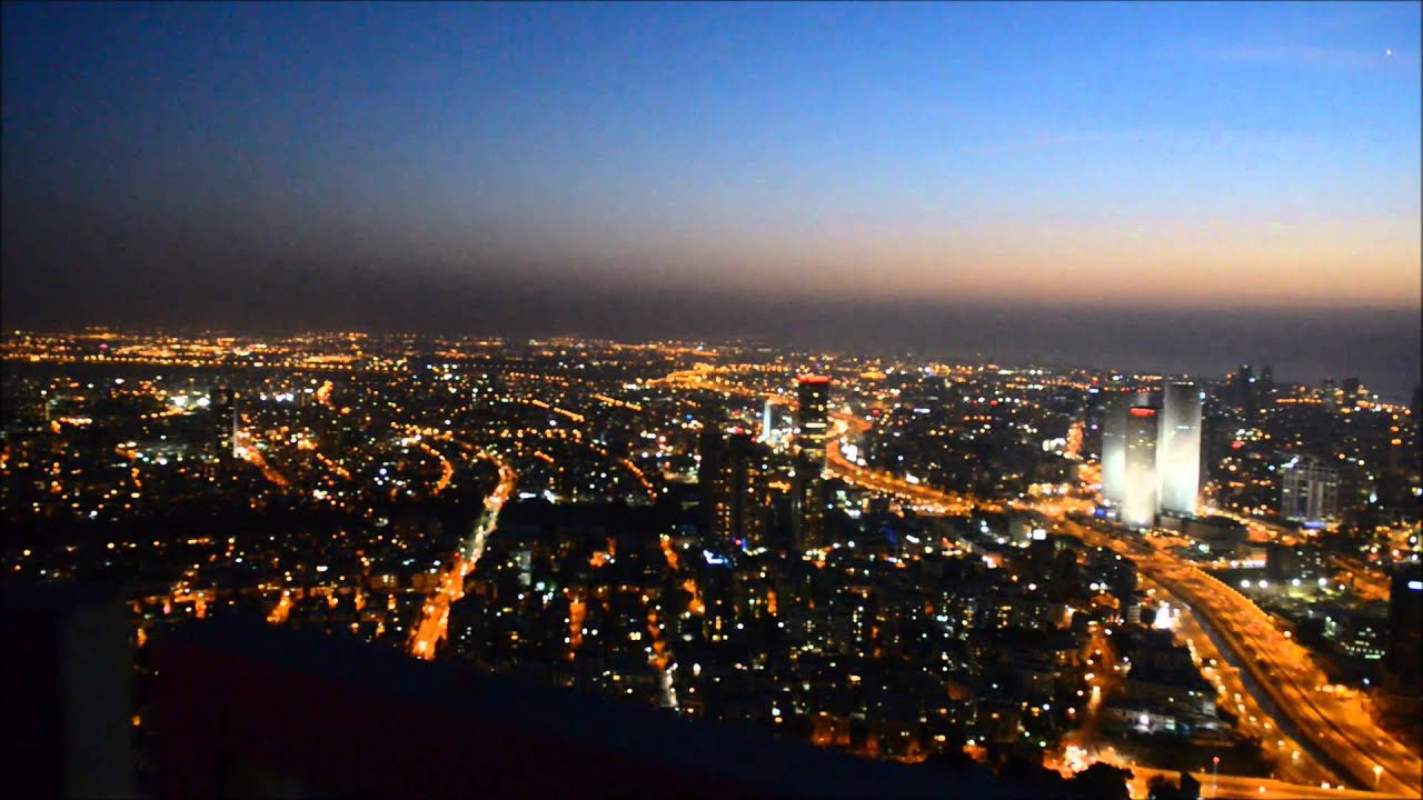 tel aviv aerial night view youtube
