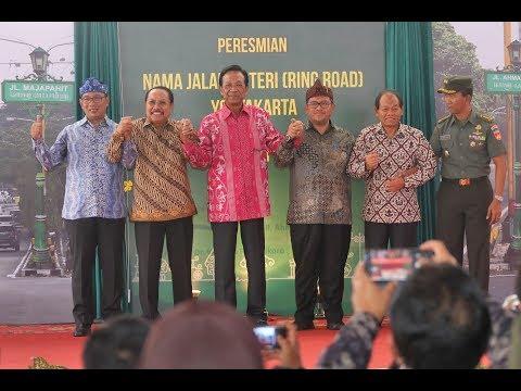 Sultan Hamengkubuwono X Resmikan Nama Jalan Arteri (Ring Road) Yogyakarta