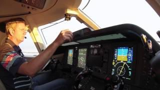 Private jet landing at Love Field Dallas