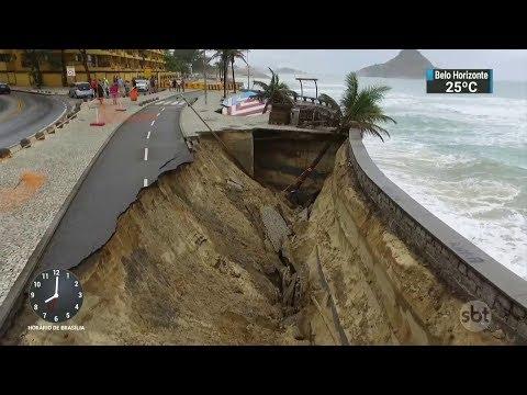 Prefeitura do Rio inicia obras no calçadão da Praia da Macumba | SBT Brasil 17/10/17