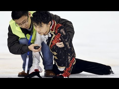 Hanyu scary crash Yan Han