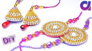 How to make rakhi at home | raksha bandhan | silk thread rakhi | tutorial | Artkala 238
