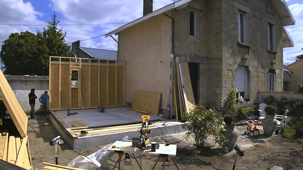 Extension agrandissement de maison lodge studio de jardin cube in life youtube Agrandissement en bois