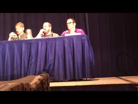 Josh Grelle, Jerry Jewel, and J Michael Tatum at Momocon 2017