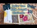 Hidden Binding Tutorial / DIY Dollar Tree Junk Journal / Under $15 Challenge