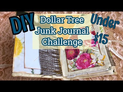 Hidden Binding Tutorial / DIY Dollar Tree Junk Journal / Under $15 Challenge