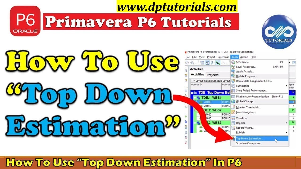 How to use top down estimation in primavera p6 to calculate labor how to use top down estimation in primavera p6 to calculate labor units required dptutorials baditri Image collections