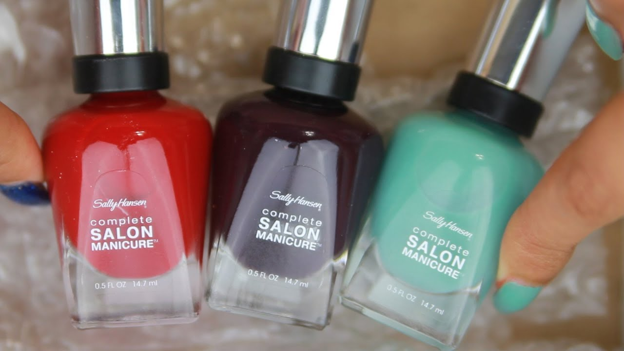 Sally Hansen Complete Salon Manicure Nail Polish Review - YouTube