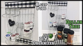 Dollar tree k-cup pods organizer / Keurig coffee station k cup pod organizer