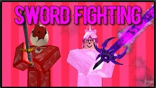 SWORD FIGHTING WITH THELAUGHINGUNICORN!    Roblox - TLU's Hosted Games