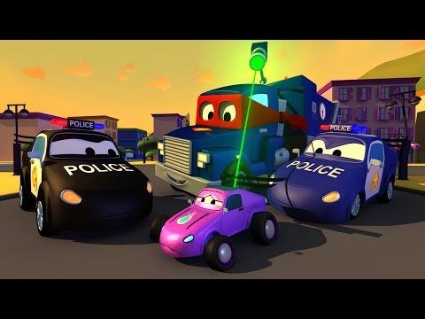 Carl el Super Camión y el Camión Policía en Auto City   Dibujos animados para niños