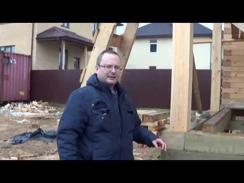 Строительство дома из бруса 8х9. Свайные фундаменты. ТИСЭ свая 3 метра.