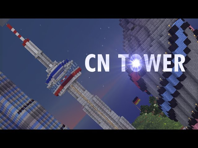 The Cn Tower In Minecraft Youtube