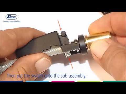Elmasteam 4.5 - Changing Wear Parts on the Handpiece