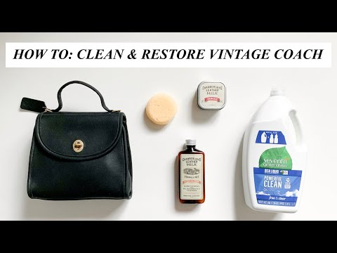 HOW TO CLEAN & RESTORE VINTAGE COACH BAG (SHOW & TELL)