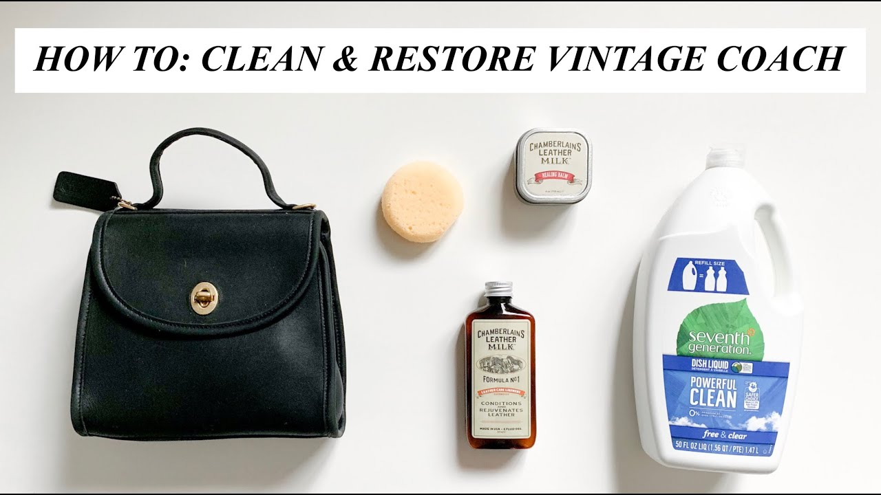 How To Clean Re Vintage Coach Bag Show Tell You