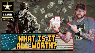 Explaining the dollar value of Army pay with benefits