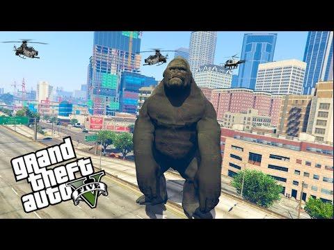 GTA 5:  ULTIMATIVE KING KONG MOD!!!