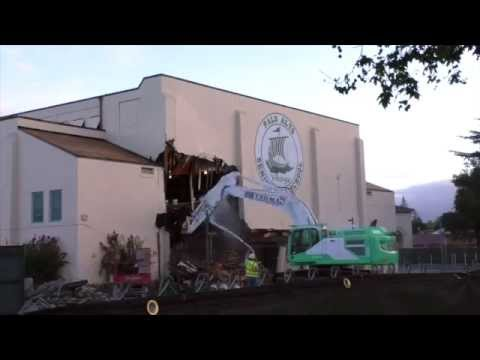 Palo Alto High School's big gym demolished