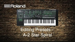 Roland System-8 - Editing Presets - A-2 Star Spiral