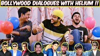 FUNNY BOLLYWOOD MOVIE DIALOGUES WITH HELIUM GAS CHALLENGE !
