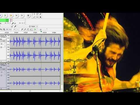 Led Zeppelin - Ramble On - drums only. Original John Bonham drum track.