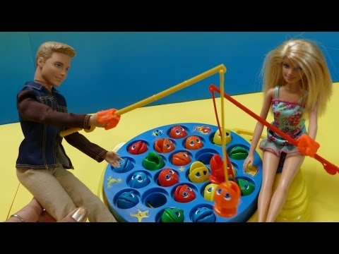 ✿Đồ Chơi Câu Cá Vui Nhộn ✿ Đi Câu Cá Cùng Chị Bí Đỏ✿  Barbie