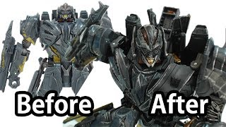 figcaption How to Customize Transformers 5 Toy? (Before & After) - MEGATRON Voyager Class Fast Detail Up