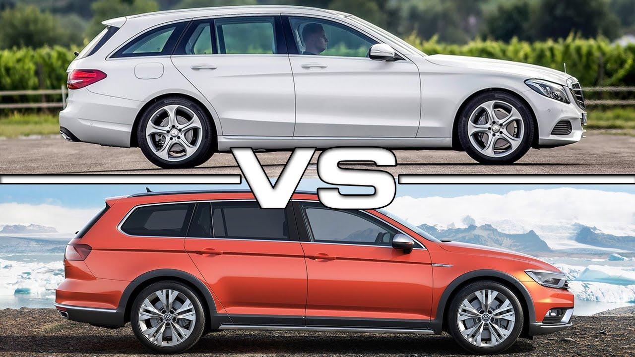 Mercedes benz c class estate vs vw passat alltrack youtube for Mercedes benz volkswagen