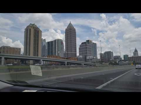 Driving to Atlanta Hartsfield-Jackson Airport and through Downtown Atlanta, GA I-75 & I-85 South