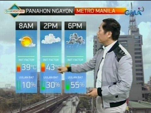 UH: Maayos na panahon, asahan sa Metro Manila ngayong umaga