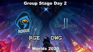 RGE vs DWG Group Day 2 WORLDS 2020 Чемпионат Мира Rogue vs Damwon Gaming