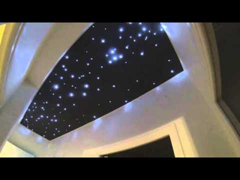 Ciel toil impression et leds youtube - Etoiles phosphorescentes plafond ...