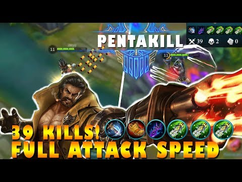 Mobile Legends Roger Full Attack Speed + First Pentakill Gameplay