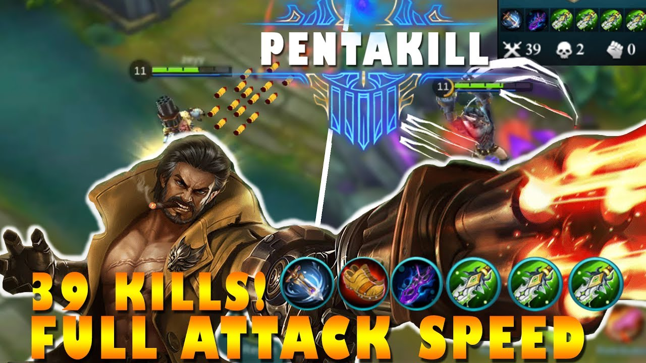 Mobile Legends Roger Full Attack Speed First Pentakill Gameplay
