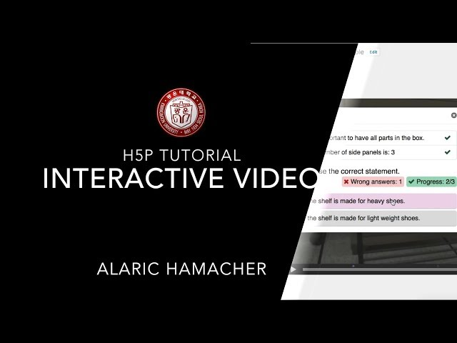 Creating Interactive Content with H5P Tutorial 2 (interactive video)