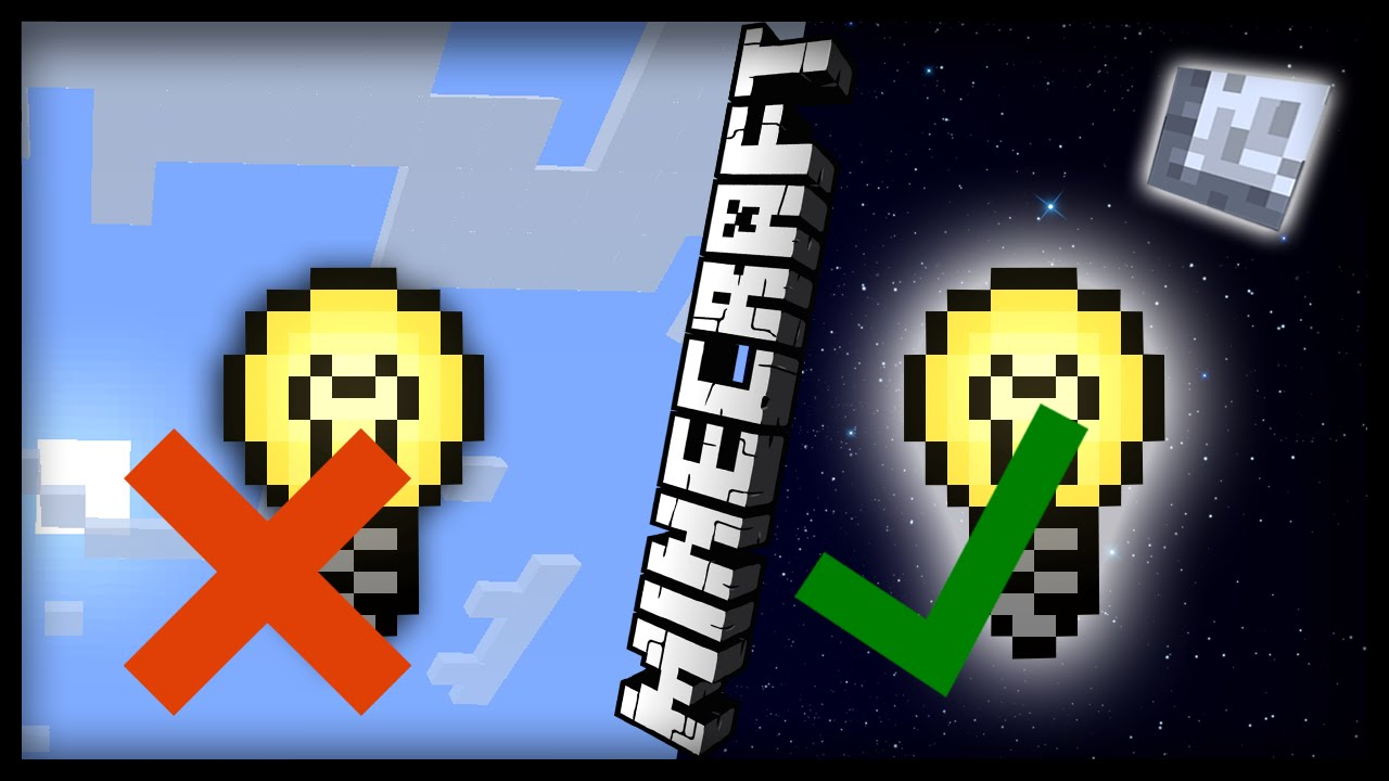 Minecraft: How to make working automatic lights (solar powered lights) - YouTube