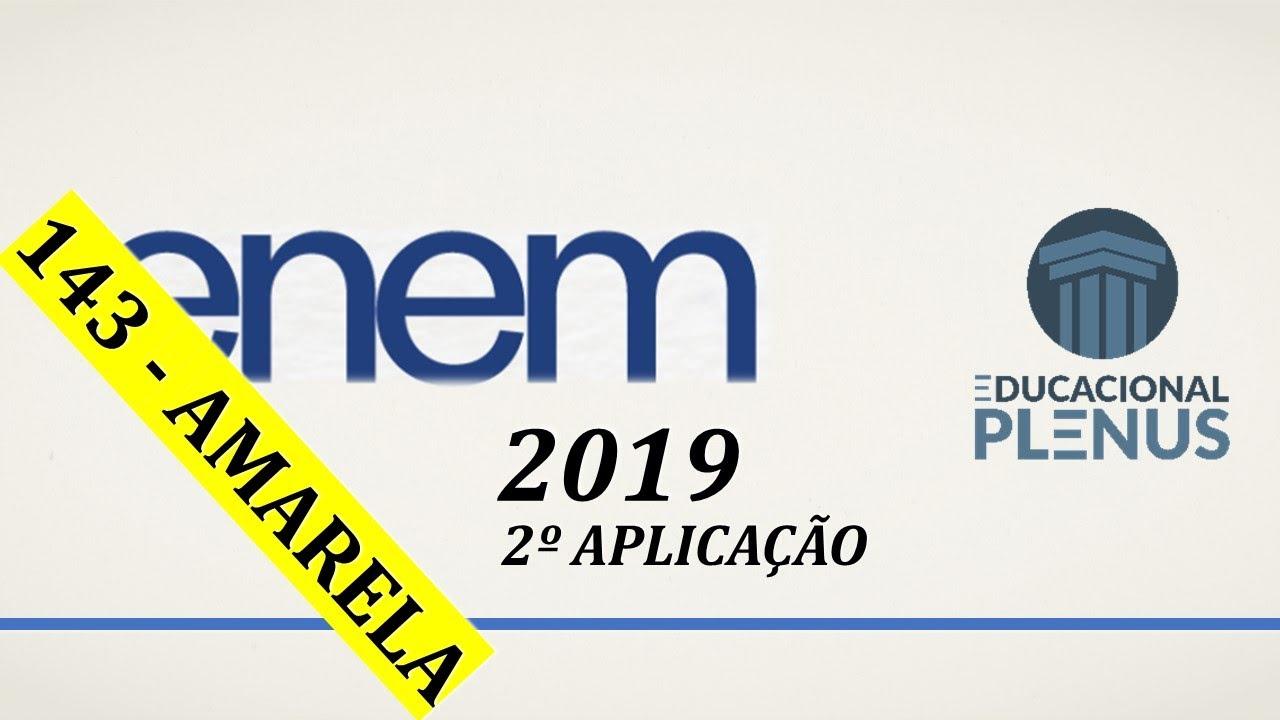 ENEM 2019 (2ª aplicação) - Questão 143 (Amarela) - Matemática
