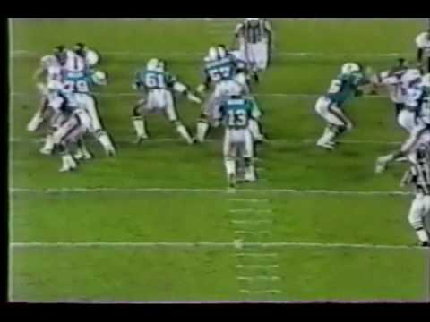 Nat Moore of the Miami Dolphins Touchdowns from Dan Marino 85