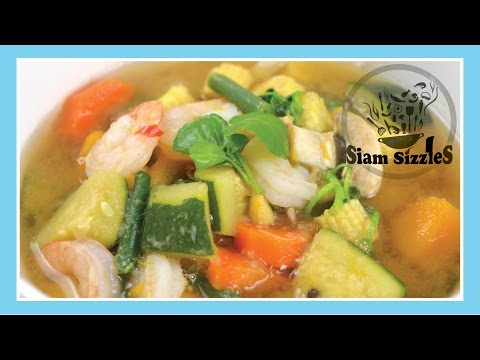 Healthy Thai Soup With Vegetables And Prawns Recipe
