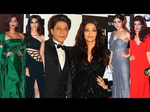 Vogue Women Of The Year Awards 2017 Red Carpet | Shahrukh Khan, Aishwarya, Anushka