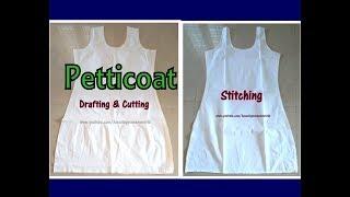 Churidar / Kurti Petticoat / Inner /Slip Dress Cutting , Stitching - Complete Tutorial