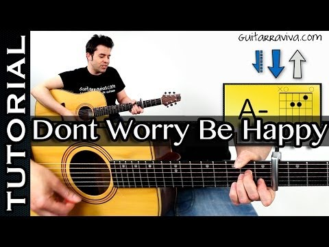 Como Tocar Dont Worry Be Happy Guitarra Acordes MUY FACIL!  Cancion Vodafone
