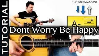 como tocar dont worry be happy guitarra acordes muy facil cancion vodafone