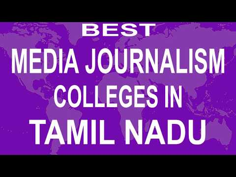 Best Media Journalism Colleges And Courses  In Tamil Nadu